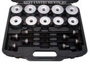 ATC-2285 Набор для монтажа и демонтажа подшипников и сайлентблоков универсальный Licota, 24 предмета.