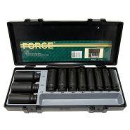 """F4119 1/2"""" Набор инструментов удлинённых ударных головок 6гр. 12-32мм. FORСE 11 пр., в кейсе."""