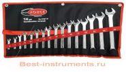 5161М Набор ключей комбинированных Rock FORCE, 16 предметов на полотне.